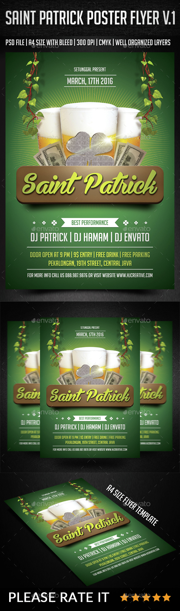 Saint Patrick Poster Flyer Vol. 1 - Clubs & Parties Events