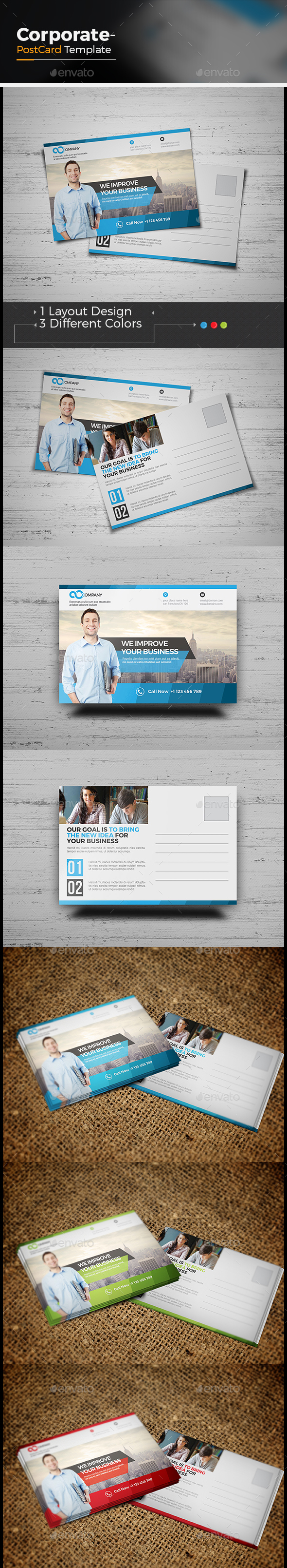 Business Postcard - Cards & Invites Print Templates