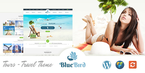 Blue Bird | Hotels, Tours, Travel WordPress Theme