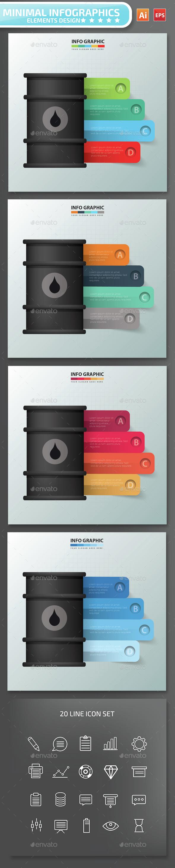 Minimal Oil Infographics Design - Infographics