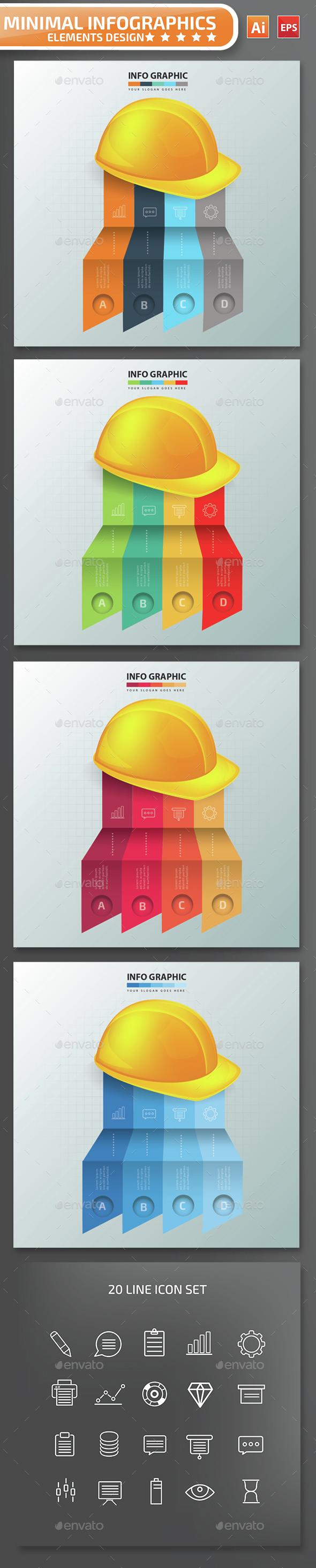 Minimal Hat Infographics Design - Infographics
