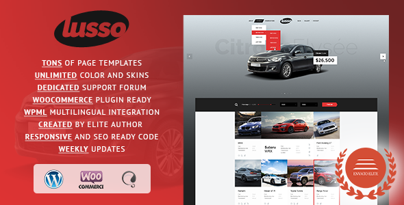 Lusso Car Rental WordPress Theme - Retail WordPress