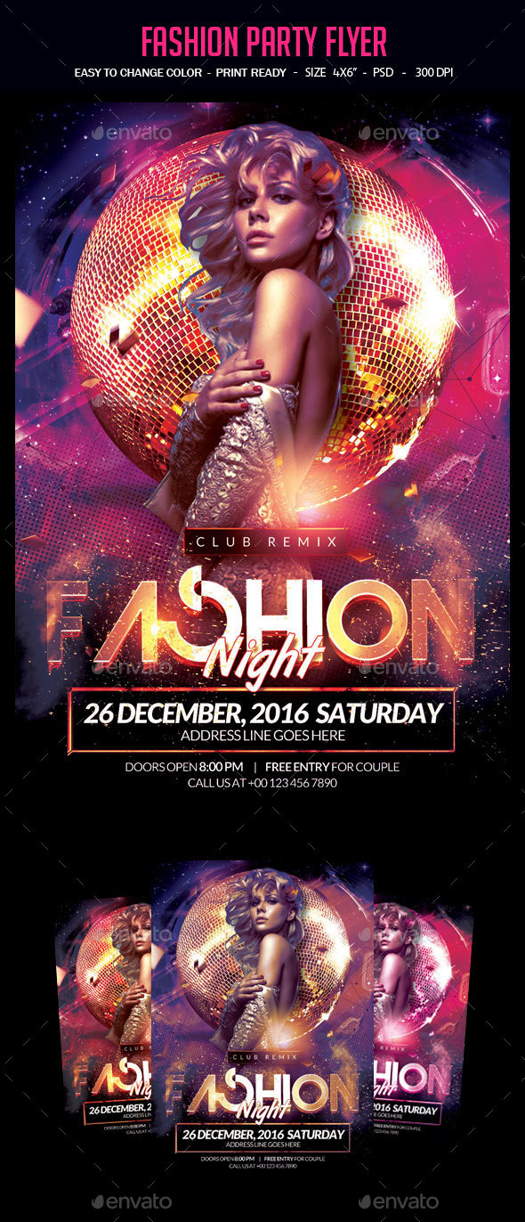 Fashion Party Flyer - Clubs & Parties Events