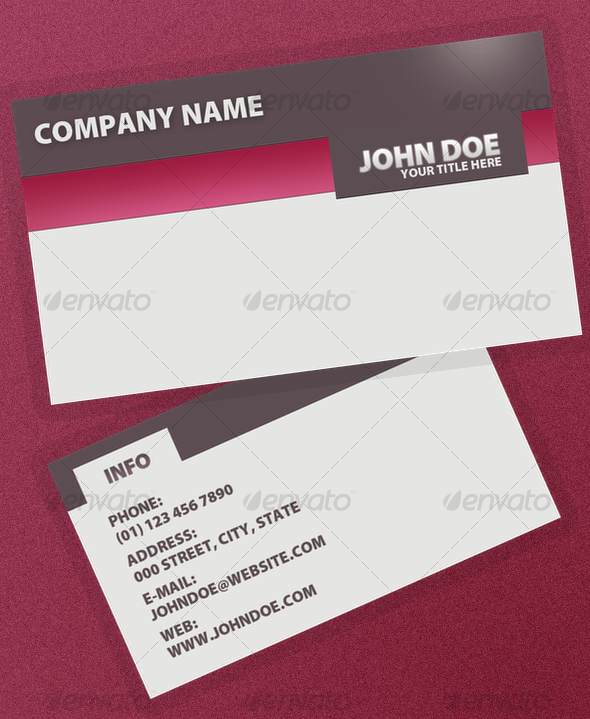 Serious Business Card - Creative Business Cards
