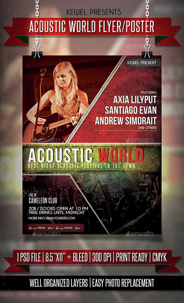 Acoustic World flyer / templates - Events Flyers