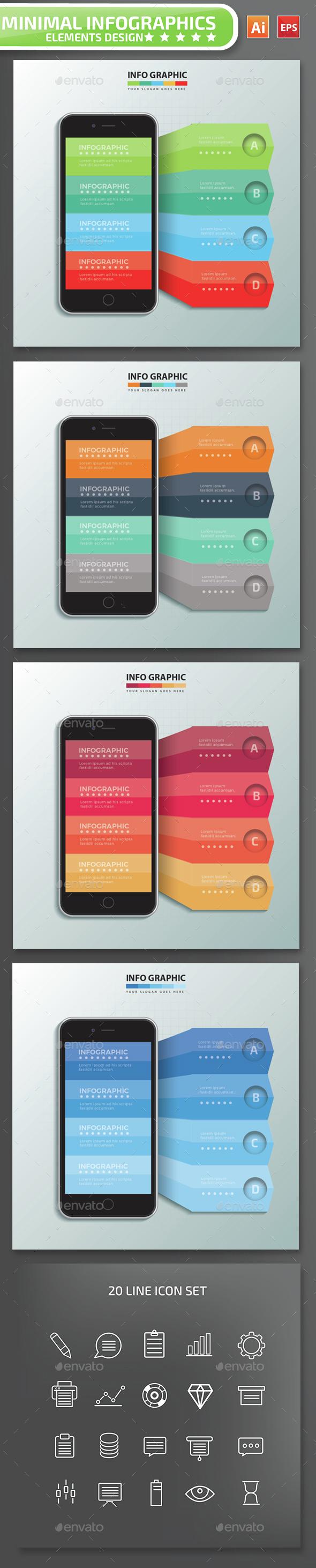 Minimal Mobile phone Infographics Design 1 - Infographics