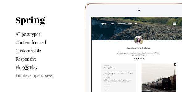 Spring – Grid-based, Portfolio Tumblr Theme