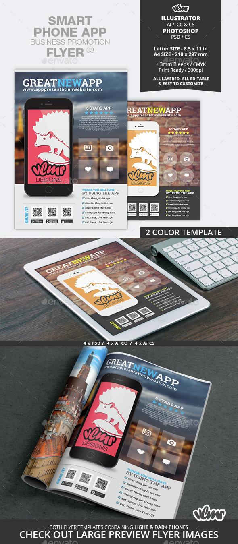 Smart Phone App Business Promotion Flyer 03 - Commerce Flyers