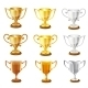 Vector Trophy Set. - GraphicRiver Item for Sale