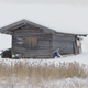 Lonely Hut in Winter Landscape - VideoHive Item for Sale