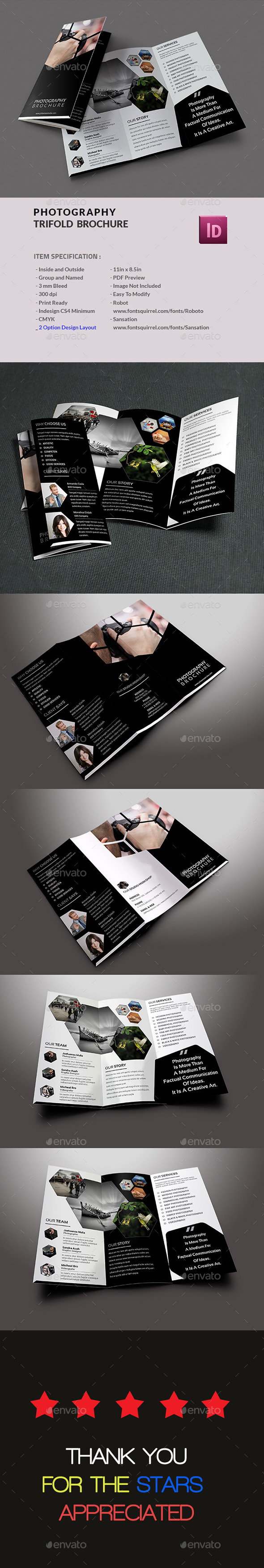Photography Trifold Brochure - Informational Brochures