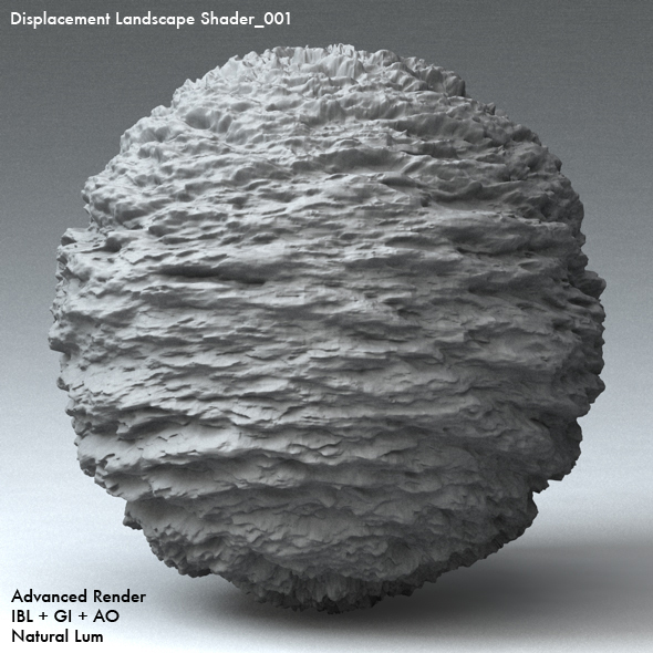 Displacement Landscape Shader_001 - 3DOcean Item for Sale