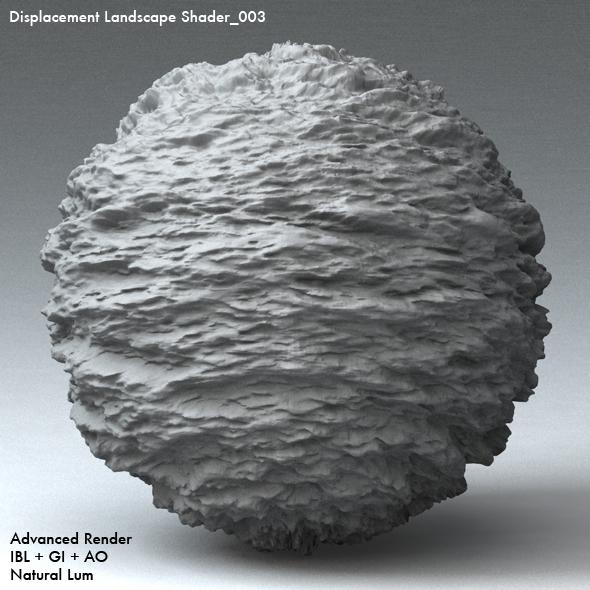 Displacement Landscape Shader_003 - 3DOcean Item for Sale