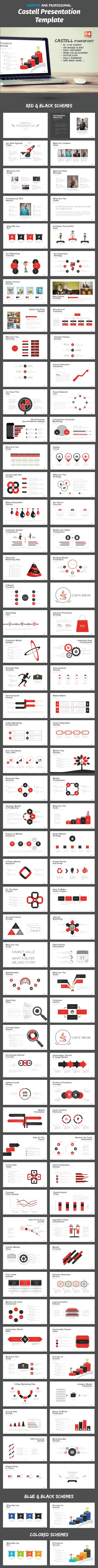 Castell Powerpoint Template - Business PowerPoint Templates