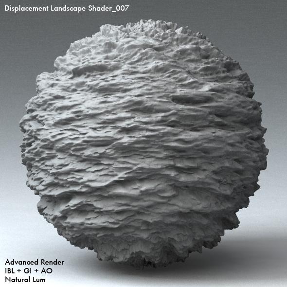 Displacement Landscape Shader_007 - 3DOcean Item for Sale