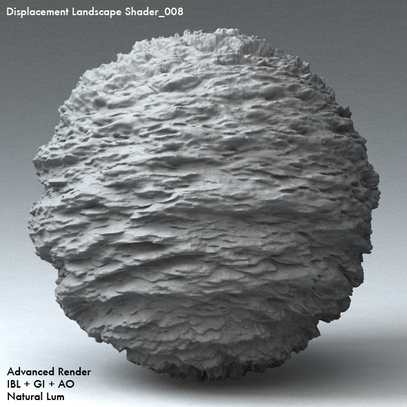 Displacement Landscape Shader_008 - 3DOcean Item for Sale