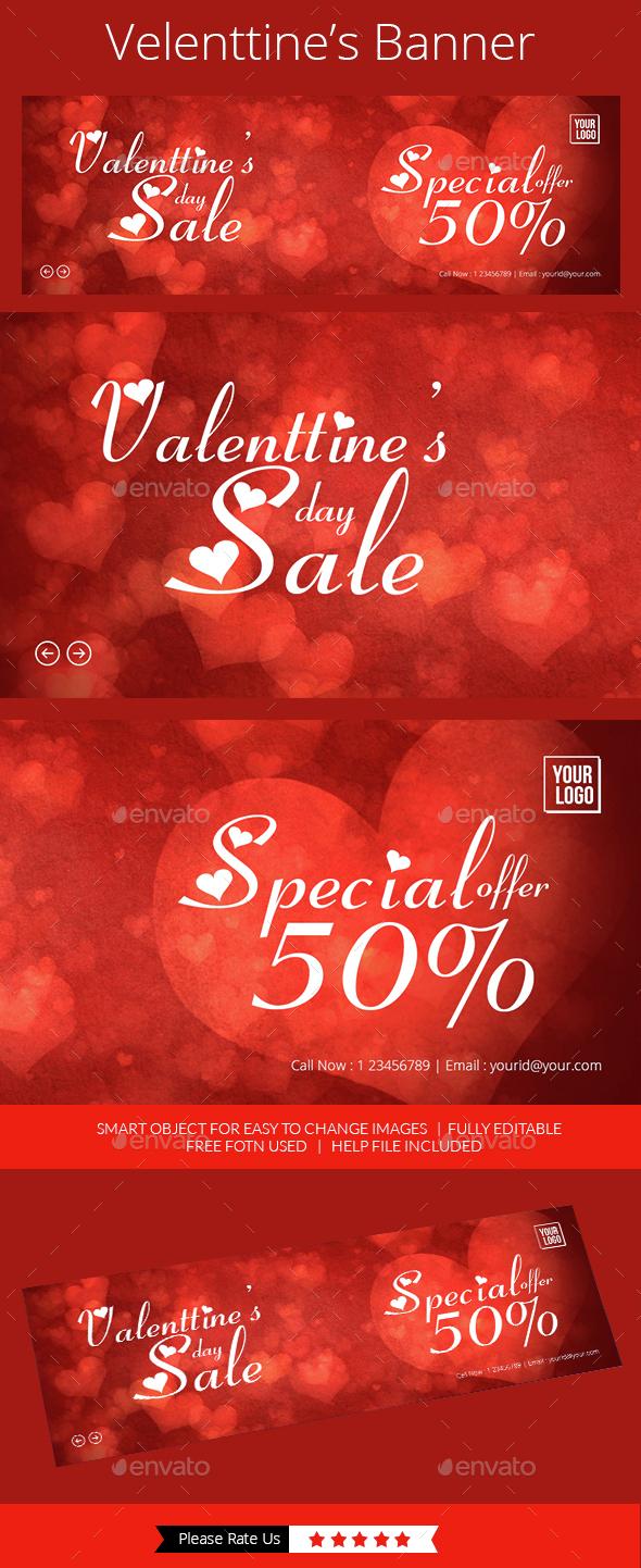 Valentine Offer Slider  - Banners & Ads Web Elements