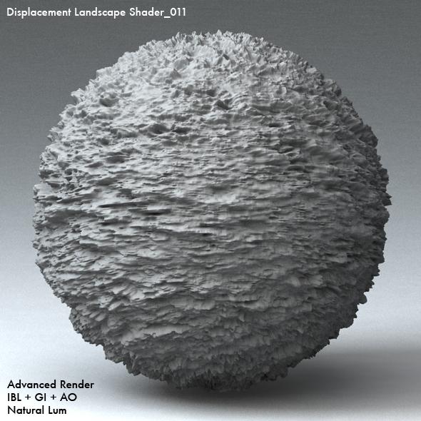 Displacement Landscape Shader_011 - 3DOcean Item for Sale