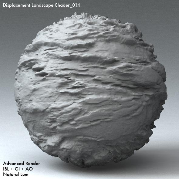 Displacement Landscape Shader_014 - 3DOcean Item for Sale