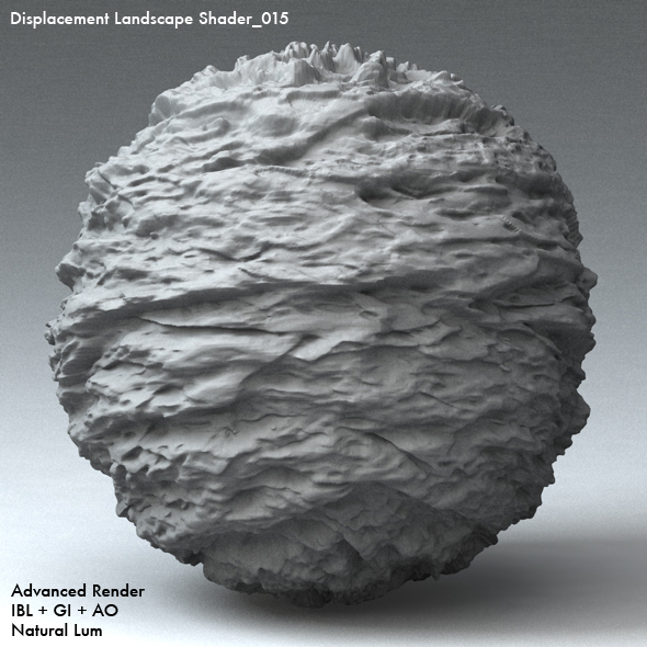 Displacement Landscape Shader_015 - 3DOcean Item for Sale