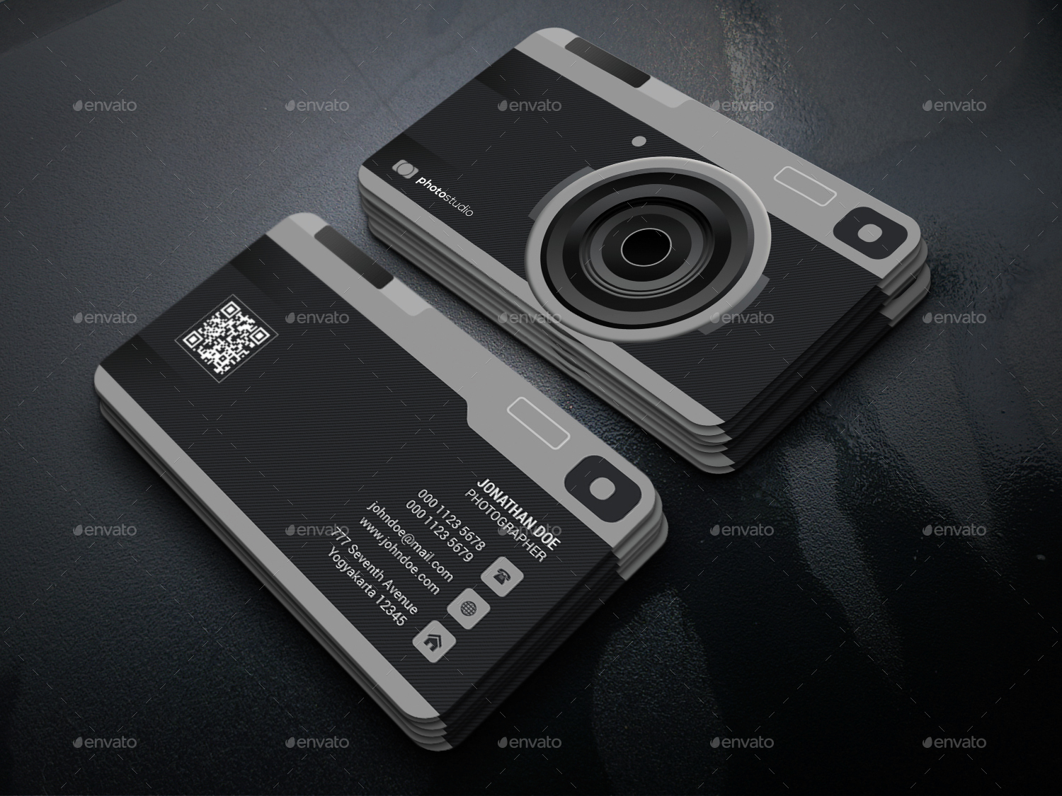 Camera - Photography Business Card by GOWES | GraphicRiver