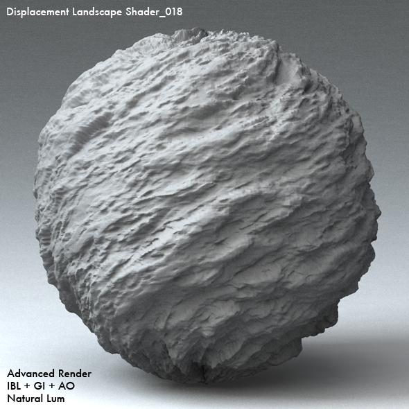 Displacement Landscape Shader_018 - 3DOcean Item for Sale