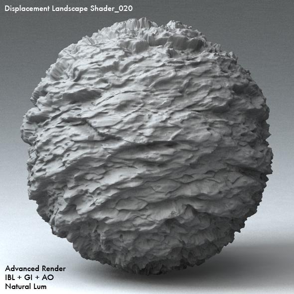Displacement Landscape Shader_020 - 3DOcean Item for Sale