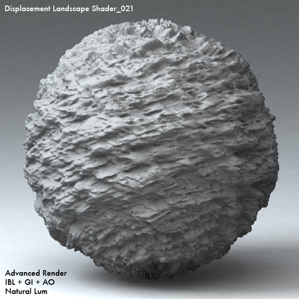 Displacement Landscape Shader_021 - 3DOcean Item for Sale