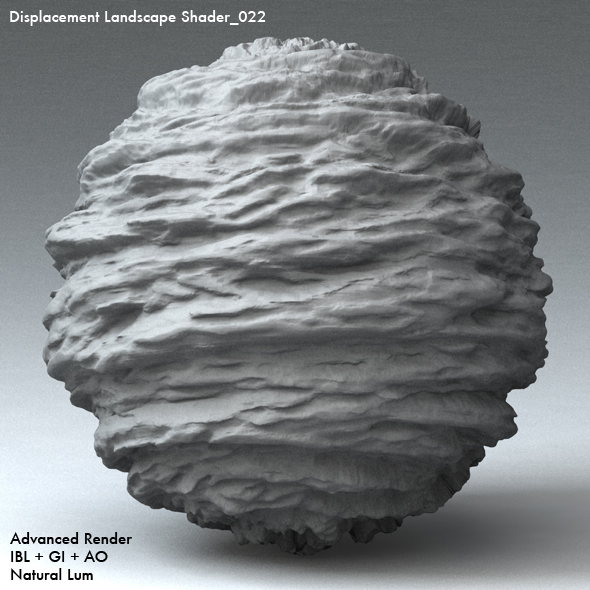 Displacement Landscape Shader_022 - 3DOcean Item for Sale