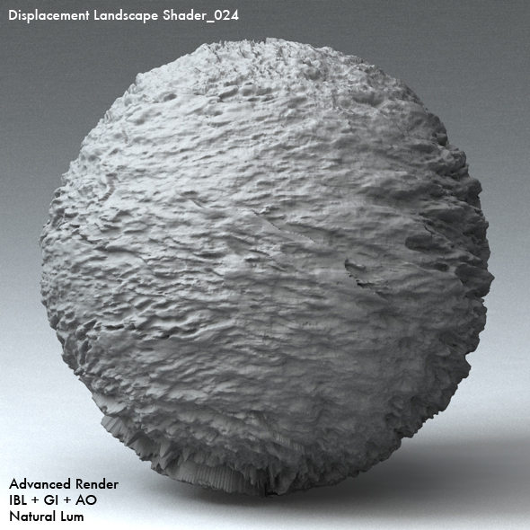 Displacement Landscape Shader_024 - 3DOcean Item for Sale