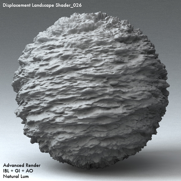 Displacement Landscape Shader_026 - 3DOcean Item for Sale