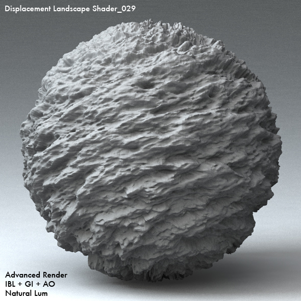 Displacement Landscape Shader_029 - 3DOcean Item for Sale