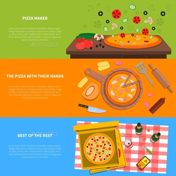 Pizza Banner Set - Food Objects