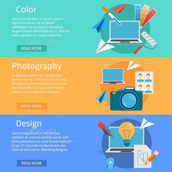 Horizontal Design Banners - Computers Technology