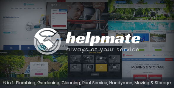 Helpmate – 6 in 1 Maintenance HTML Template