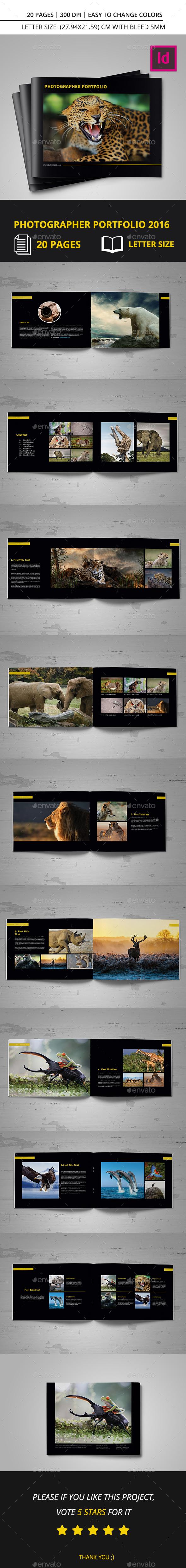 Photographer Portfolio 2016 - Portfolio Brochures