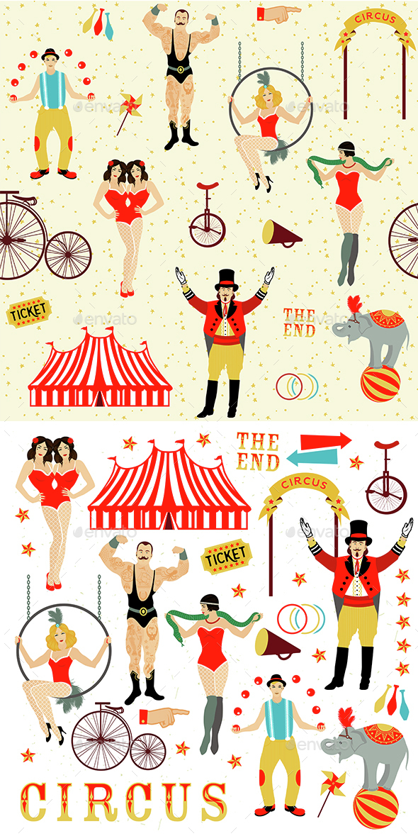 Circus Collection. - People Characters
