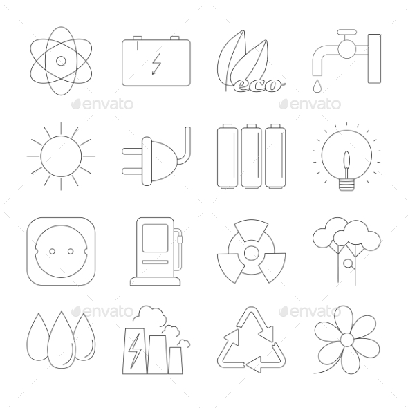 Ecology Thin Line Icons - Miscellaneous Icons