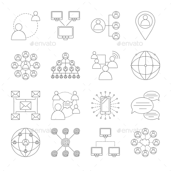 Communication Icons Set - Miscellaneous Icons