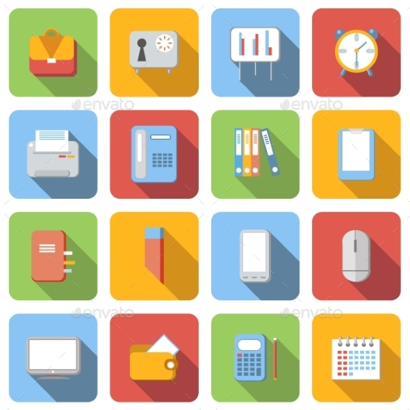 Business Flat Icons Set - Miscellaneous Icons