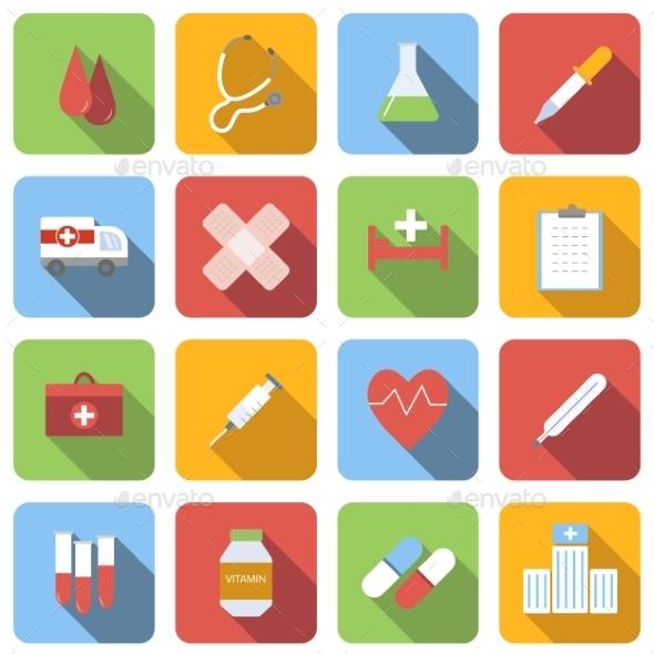 Medicine Flat Icons Set - Miscellaneous Icons