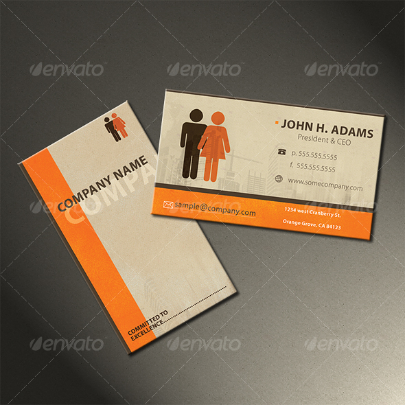 Vintage Business Card - Corporate Business Cards