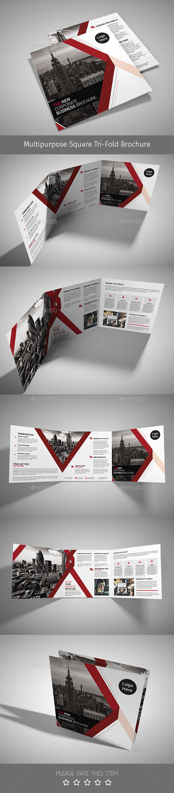 Corporate Tri-fold Square Brochure 02 - Corporate Brochures