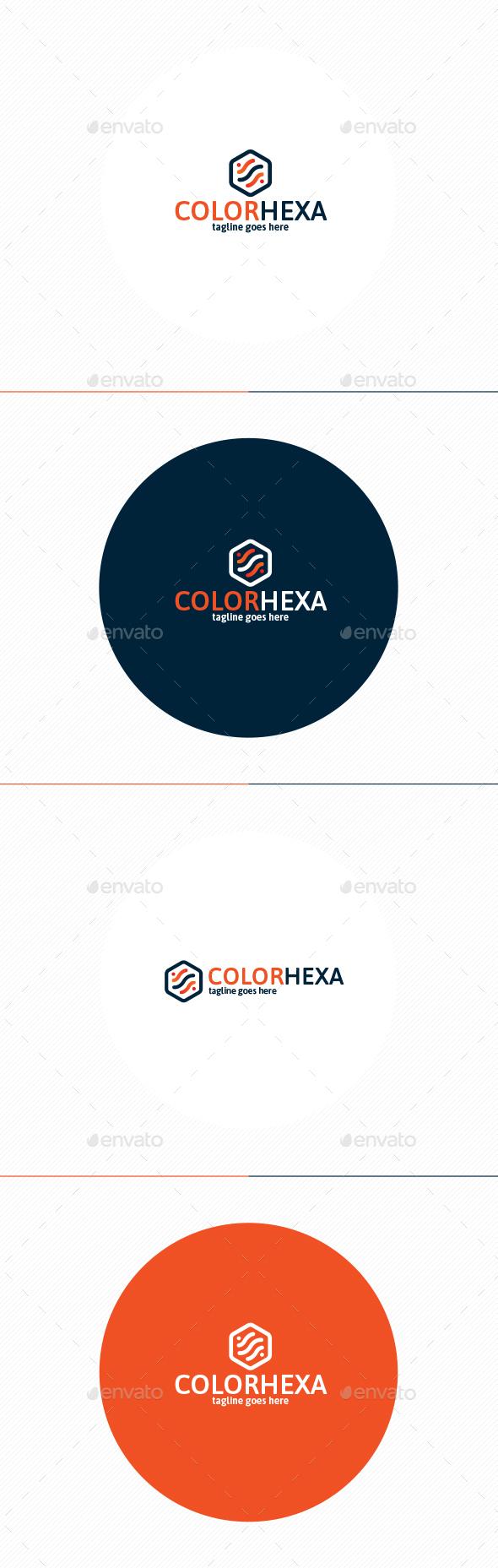 Color Hexa Logo - Vector Abstract