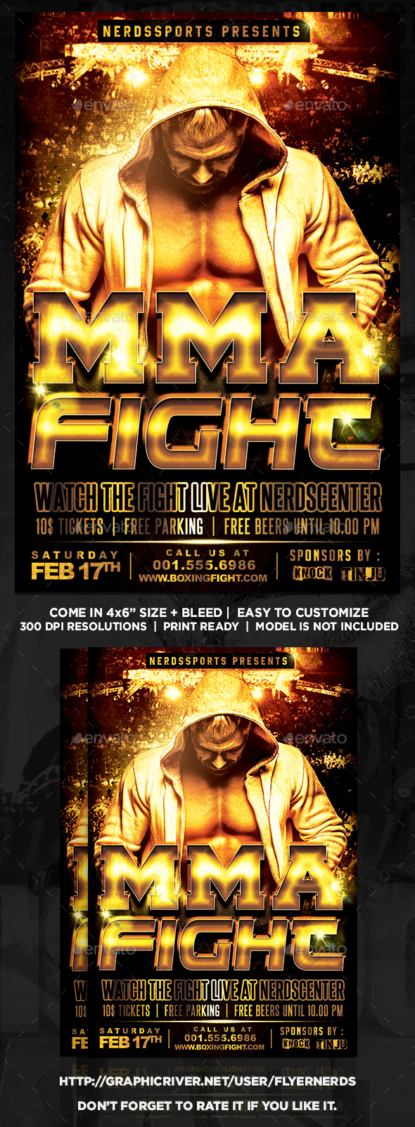 MMA Fight Championships Sports Flyer - Sports Events