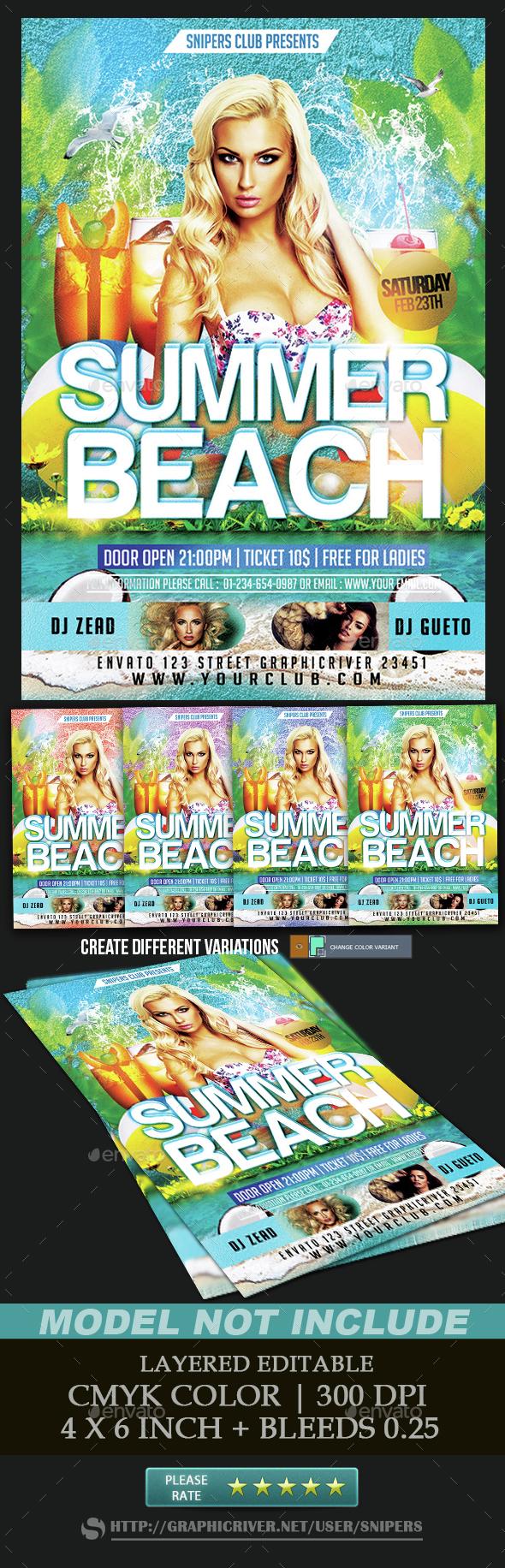 Summer Beach - Events Flyers