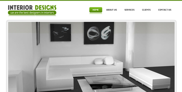 Interior Designs - Simple Pro Elegant Template - Creative Site Templates