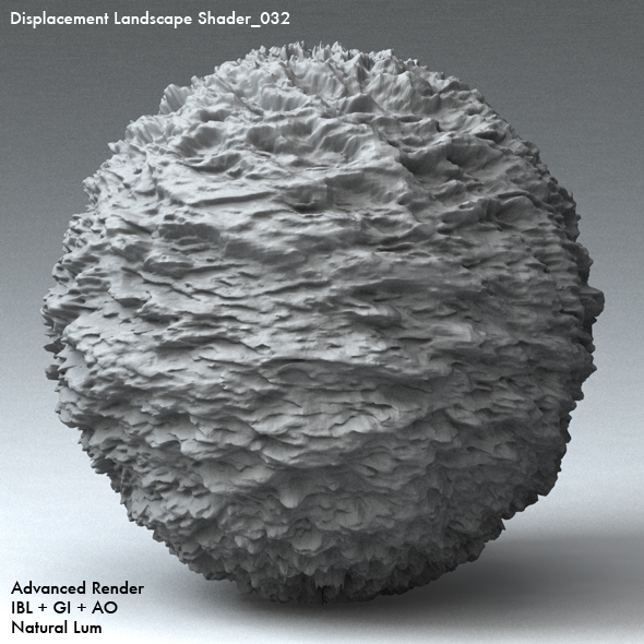 Displacement Landscape Shader_032 - 3DOcean Item for Sale