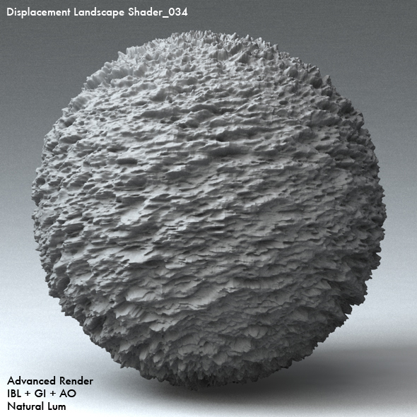 Displacement Landscape Shader_034 - 3DOcean Item for Sale