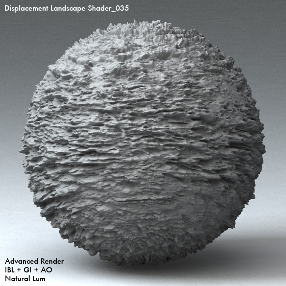 Displacement Landscape Shader_035 - 3DOcean Item for Sale